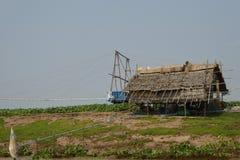 Irrigatiemateriaal aan pompwater Royalty-vrije Stock Foto's