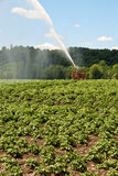 Irrigating Field Royalty Free Stock Photo