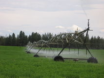 Irrigating a Hay Field Royalty Free Stock Images