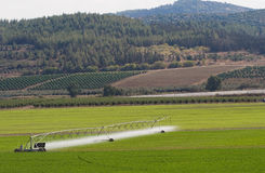 Irrigating machine Royalty Free Stock Image