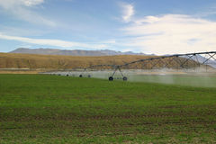Irrigating Pastures Stock Images