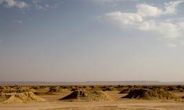Irrigating system in Sahara stock photo
