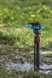 Irrigation aspersion. Faucet used for sprinkler irrigation Royalty Free Stock Images