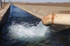 Irrigation Canal. On an Arizona farm stock image