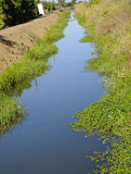 Irrigation Canal. For Watering Farming Crops Stock Photography