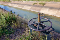 Irrigation Canal and Floodgate Royalty Free Stock Image