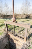 Irrigation Canal and Floodgate valve Stock Images