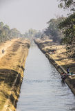Irrigation canal Royalty Free Stock Photo