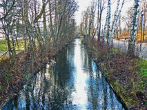Irrigation Canal next to Dachau concentration camp in Germany Stock Photography