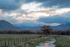 Free Irrigation Canal Running Through Cattle Ranch During Early Morning Sunrise Just East Of Drought Stricken Lake Isabella In Californ Royalty Free Stock Photo - 68709385