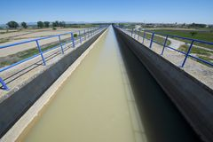 Irrigation canal Stock Image