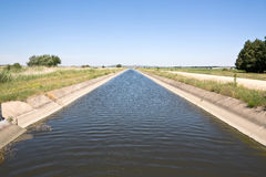 Irrigation channel Royalty Free Stock Image
