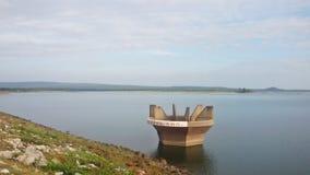 Irrigation dam. Royalty Free Stock Photo