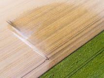 Irrigation dans Richarville photographie stock
