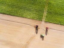Irrigation dans Richarville images libres de droits