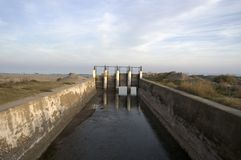 irrigation ditch Stock Images