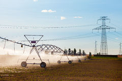 Irrigation and Electric Power Royalty Free Stock Photo