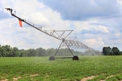 Irrigation Equipment. Irrigation machine in farm field Stock Image
