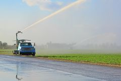 Irrigation Farm Land Stock Image