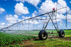 Irrigation Farm Land Royalty Free Stock Images