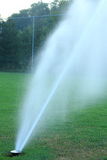 Irrigation football field Royalty Free Stock Photography