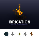 Irrigation icon in different style. Irrigation color icon, vector symbol in flat, outline and isometric style isolated on blur background Stock Image