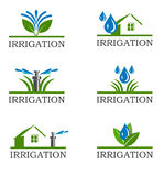 Irrigation icons Royalty Free Stock Image