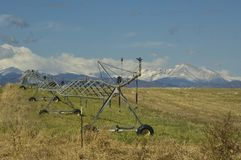Irrigation machine Colorado Royalty Free Stock Images