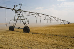 Irrigation machine on field Royalty Free Stock Photos