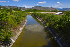 Irrigation for the orchards. Osoyoos, B.C. Stock Images