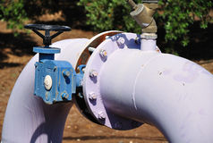 Irrigation pipe. Royalty Free Stock Images
