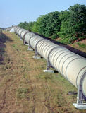 Irrigation pipeline. At summer landscape Stock Photography