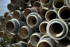 Irrigation pipes Royalty Free Stock Image