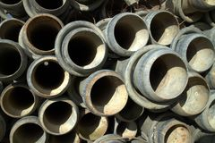 Irrigation pipes Stock Photo