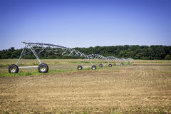 Irrigation pivot on sunny day Stock Photo