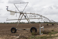 Irrigation pivot system watering Stock Photography
