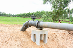 Irrigation pumping pipe system Royalty Free Stock Images