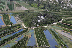 Irrigation scheme. On river Neretva - Croatia Stock Photos