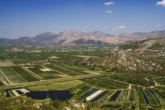 The irrigation scheme on river Royalty Free Stock Photography