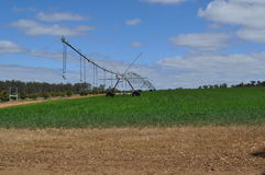 Irrigation sprinkler system Stock Photo