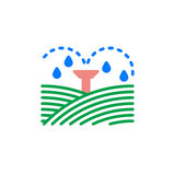Irrigation sprinklers icon vector, filled flat sign, solid colorful pictogram. Symbol, logo illustration Stock Photos