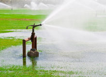 Irrigation System. An irrigation system for watering grass and crops Royalty Free Stock Photography