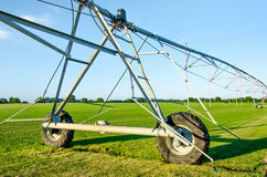 Irrigation system for crops Stock Photos