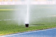 Irrigation system. For grass water Stock Photos