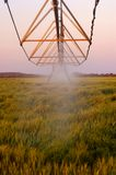 An irrigation system pumping water Stock Photo