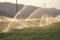 Irrigation system in the San Joaquin Valley, CA Stock Photography