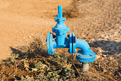 Irrigation system. S, pipes and faucets for watering royalty free stock image