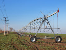 Irrigation system on wheels Stock Image