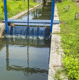 Irrigation water channel. To supply paddy farm Stock Photo