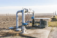 Irrigation water pumping system Royalty Free Stock Images